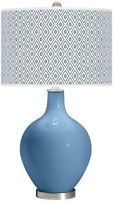 Secure Blue Diamonds Ovo Table Lamp