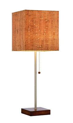 Sedona 21.5 In. Stylish Walnut Table Lamp Home Office Room D