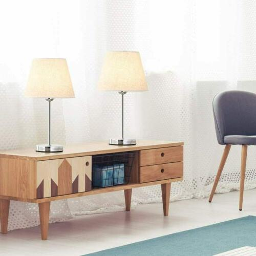 Set 2 Table Lamp Bedside Lamp Nightstand