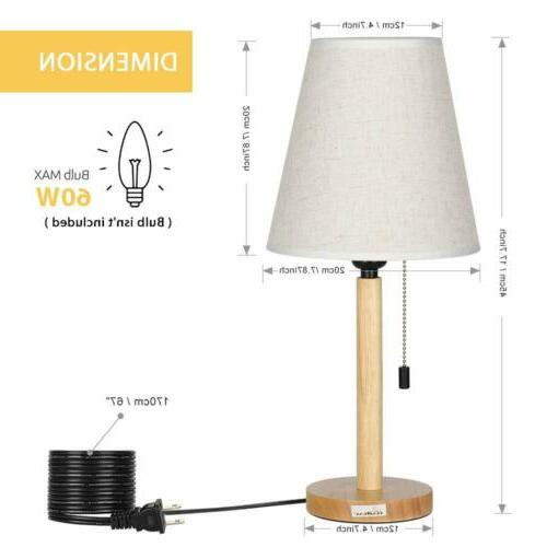 Simple Bedside Table Lamp set of 2 Nightstand Lamps for Bedr