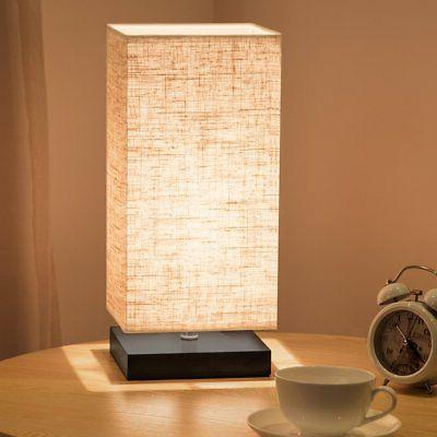 ZEEFO Table Bedside Lamp Fabric Wood for