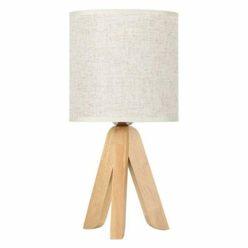 Small Bedside Wooden with Fabric Linen