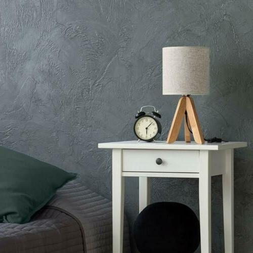 Small Wooden Tripod Lamp with Fabric