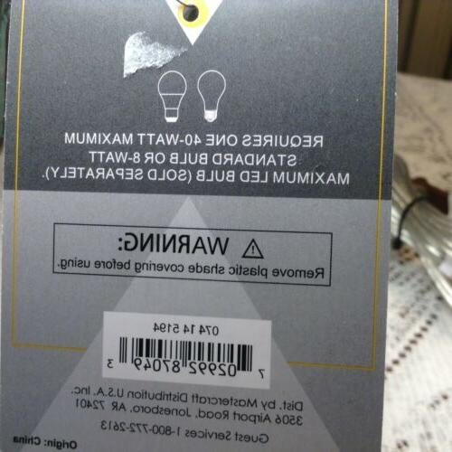 Small Clear Table Lamp 14 Inches