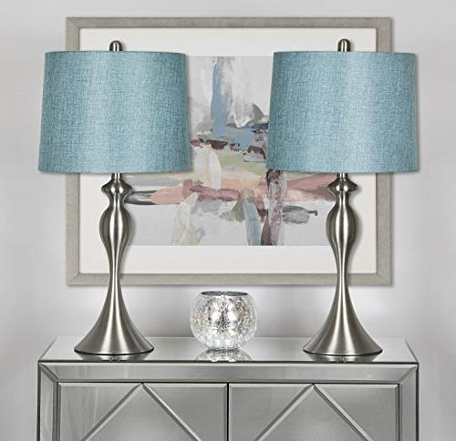 Grandview Table with of 2 – and Brushed Nickel Table Lamps Dressers Much – ST90215HT-