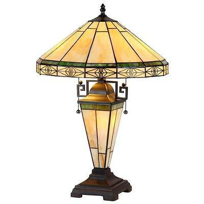 Stained Glass Chloe Lighting Mission Double Lit Table Lamp C