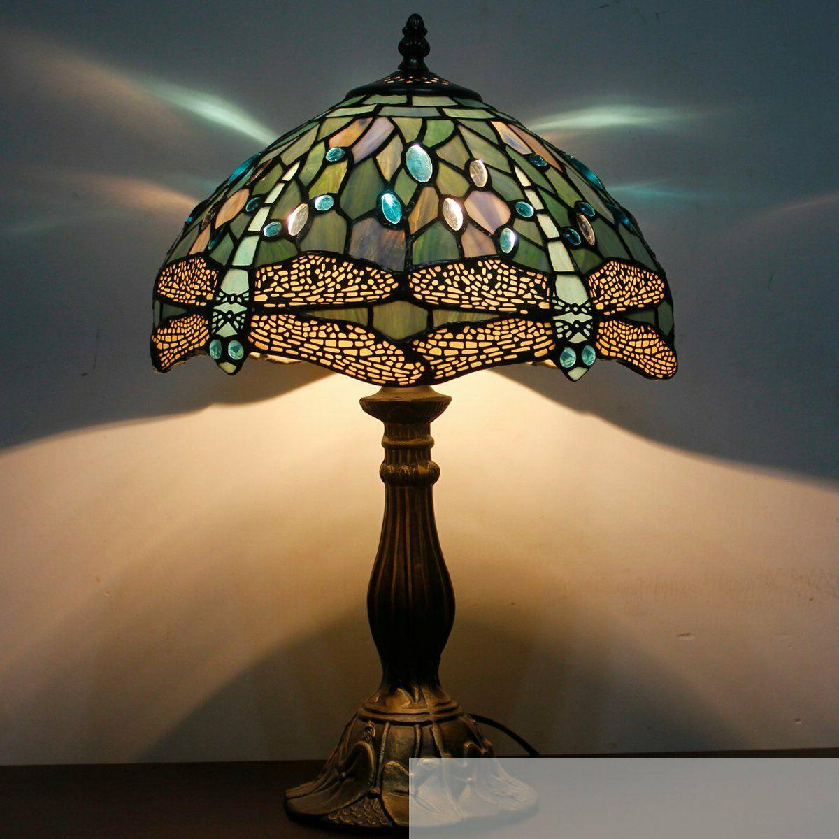 Tiffany Lamp Stained Bead Dragonfly Lamps