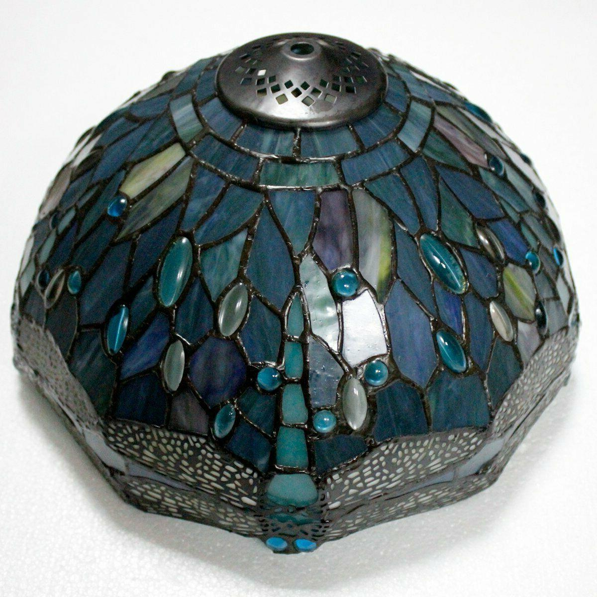 Tiffany Stained Glass and Bead Table Lamps