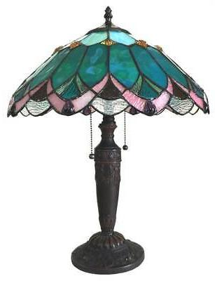 Stained Glass Chloe Lighting Victorian 2 Light Table Lamp 16