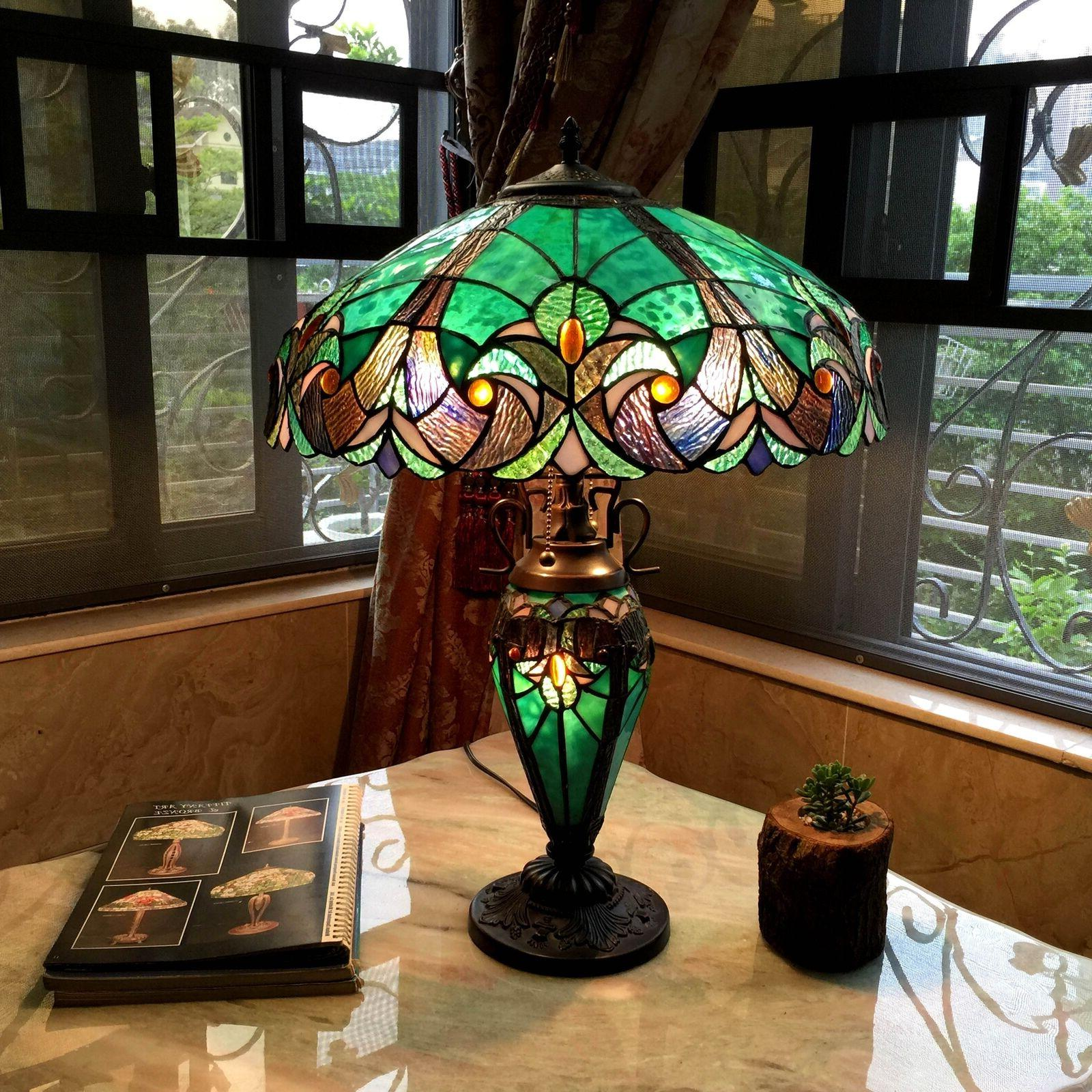 stained glass vintage victorian nightstand office desk