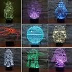 Star Wars 3D Table Lamp 7 Color Changeable LED Night Lights