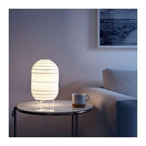 storuman white rice paper table lamp includes