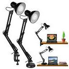 Super Bright Swing Arm Desk Lamp Clamp On Table Light With M