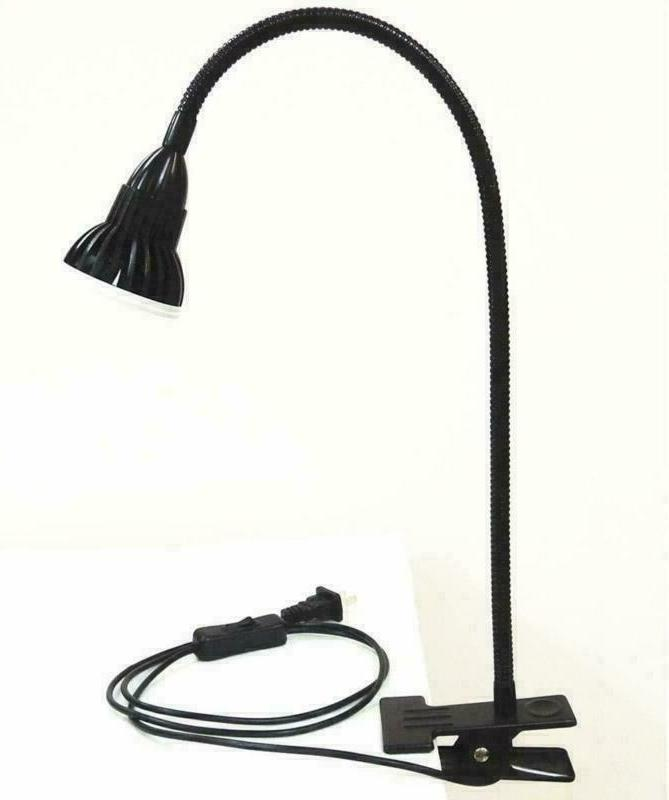 table goose neck led lamp clamp clip