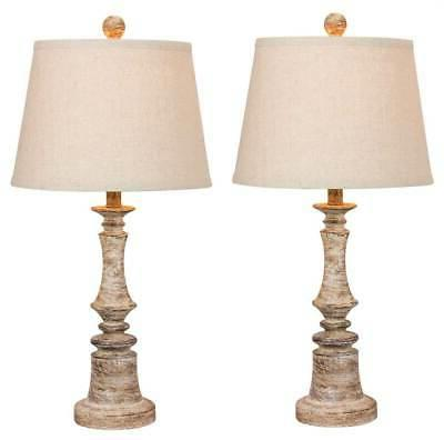 Table Lamp in Cottage Beige - Set of 2
