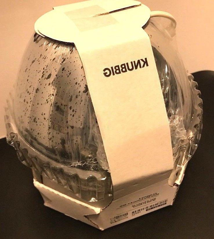 """Ikea Table Lamp Knubbig Silver Color 7"""" New- Includes Two Fr"""