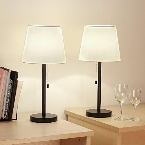 HAITRAL Lamp Set of 2 Modern Lamps for Living Office