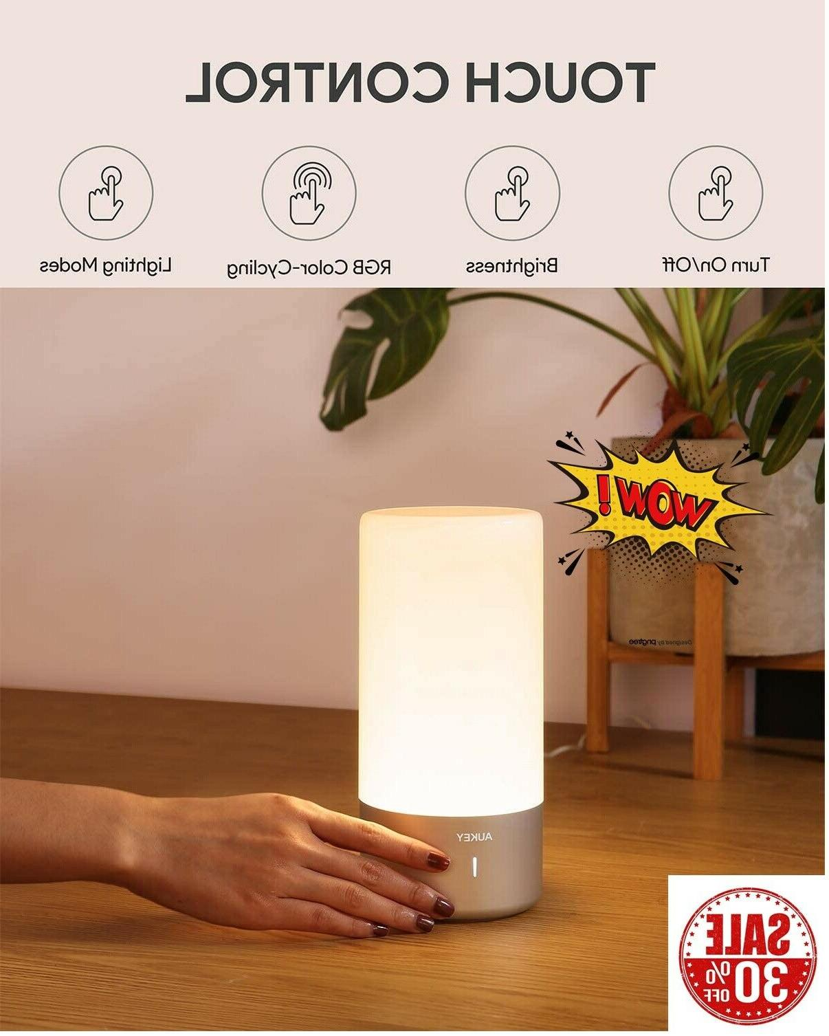 table lamp touch sensor bedside lamp color