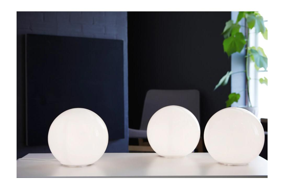 IKEA Lamp with LED Bulb and White, FREE