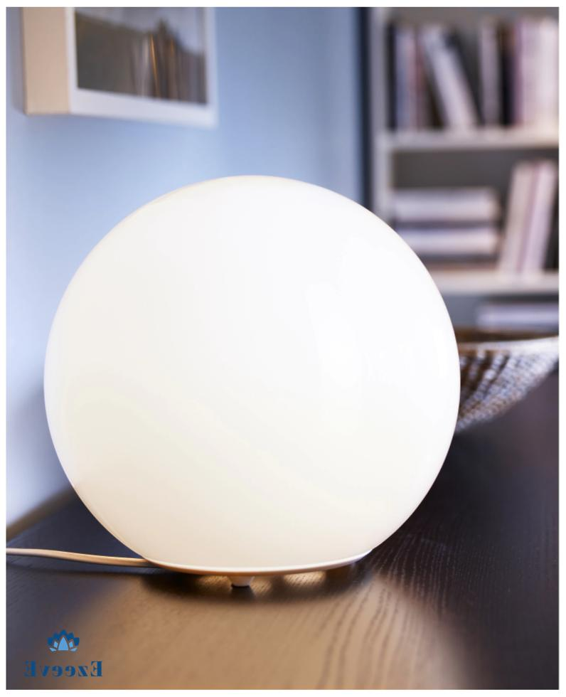 table lamp with led bulb for home