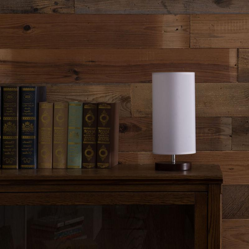 table lamp with solid wood base minimalist