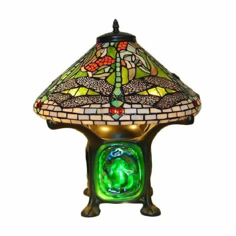 Table Lamps For Living Room Dragonfly Tiffany Style Green Co
