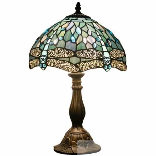 Lamp 18 Sea Blue Stained Glass End Bedside Lamps