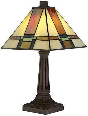 Tiffany Style Lamp 14 LED Stained Office