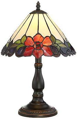 Tiffany Lamp 17 Bronze Floral Glass