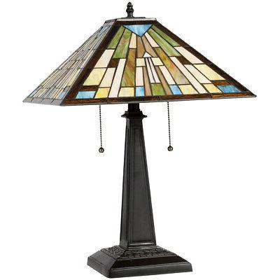 Tiffany Style Table Lamp with Stained