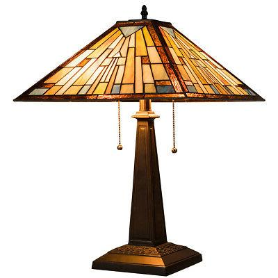 Tiffany Style Table Lamp Stained