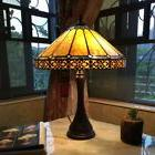Tiffany Style Mission Arts & Craft Stained Glass 2 Bulb Tabl