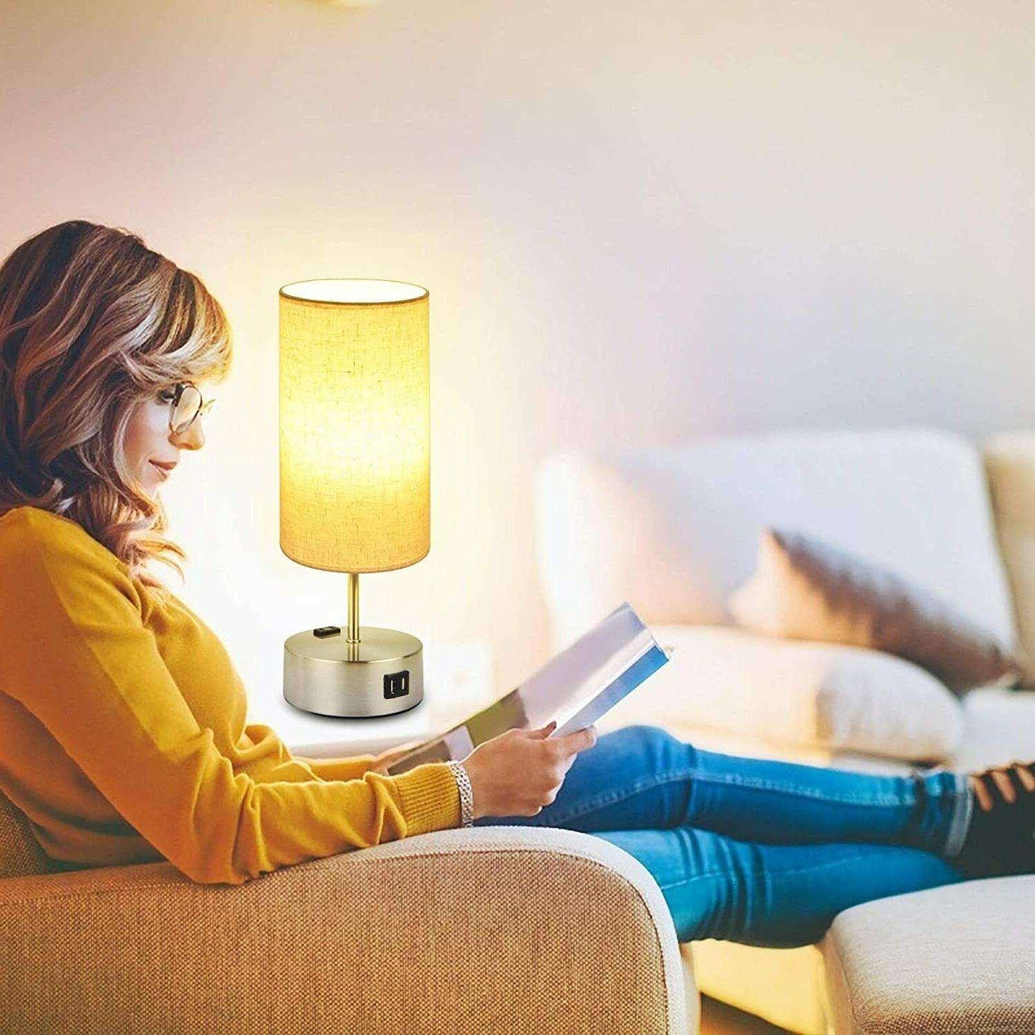 Touch Control Bedside Dimmable Dual USB Charging