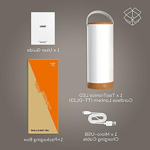 TaoTronics Rechargeable Sensor Bedside Lamp, LED Lamps Internal up to 110 Hours Operation, Color Temperature