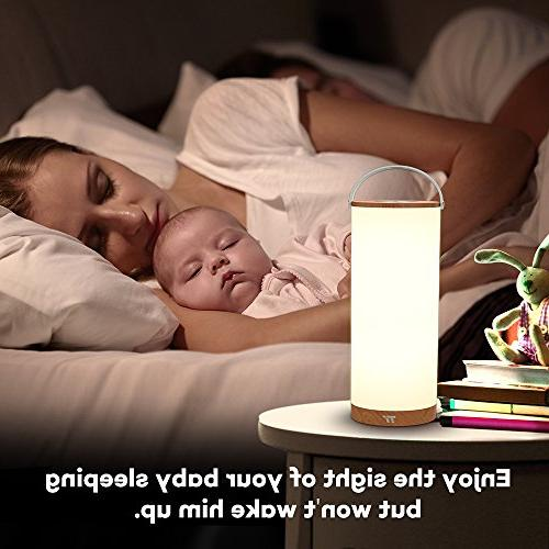 TaoTronics Touch Bedside Lamp, Lamps with Internal Battery up 110 Color