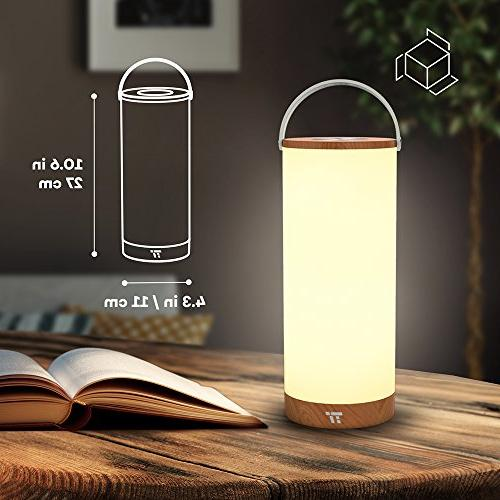 TaoTronics Rechargeable Bedside Lamps for Internal Battery to Color