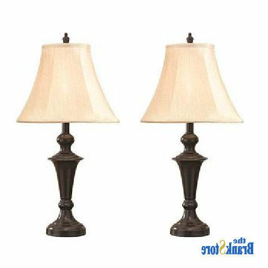 Traditional 2 Vintage Lamps Pair Light