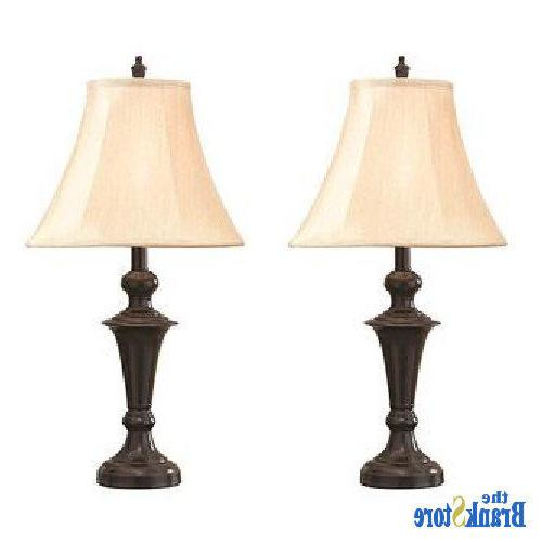 Traditional Table 2 Pair Nightstand Light