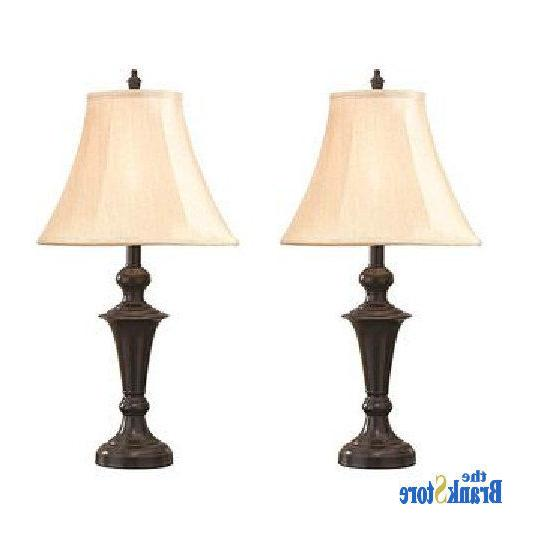 Traditional Table Lamp 2 Pair Nightstand