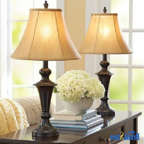 Traditional Table Set 2 Vintage Lamps