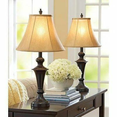 traditional table lamp set 2