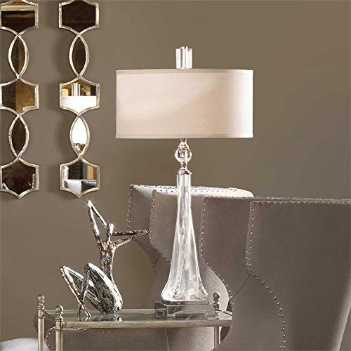 twisted glass table lamp grancona