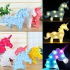 Unicorn Head LED Letter Table Lamp Night Light Kids Gifts Ro