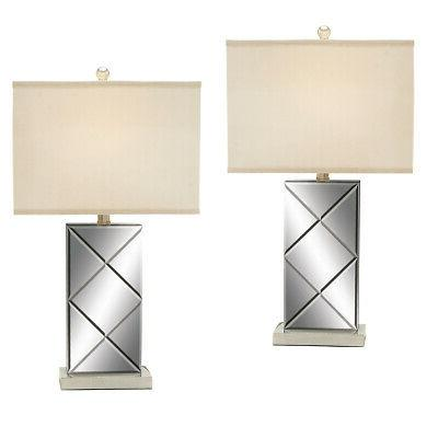 """EC World Imports Urban Designs 26"""" H Table Lamp with Square"""
