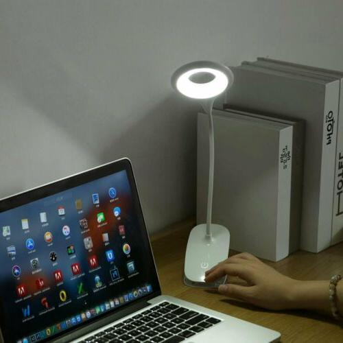 USB Rechargeable Portable Light Bed Desk Table Reading Lamp