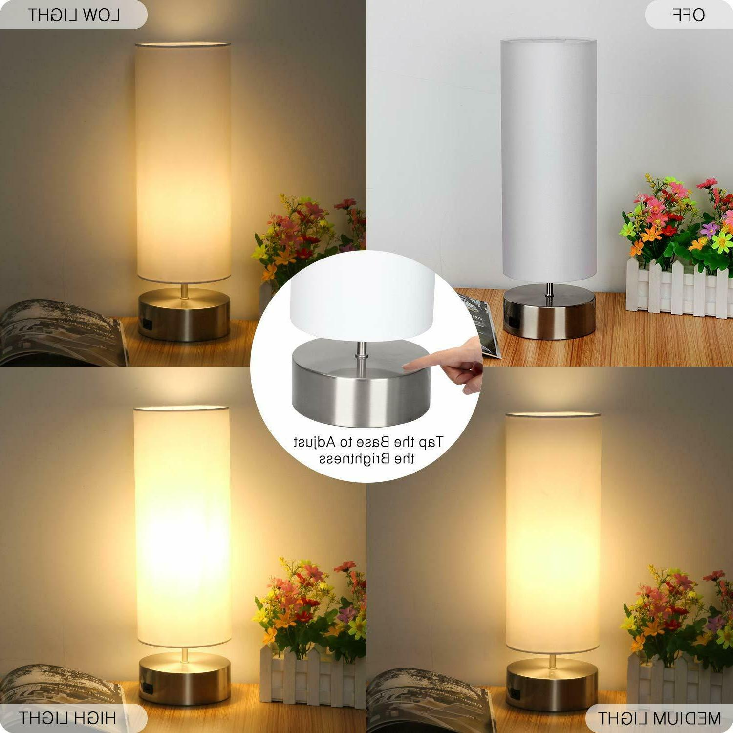 USB Table Touch Control Lamp Quick Charging Port