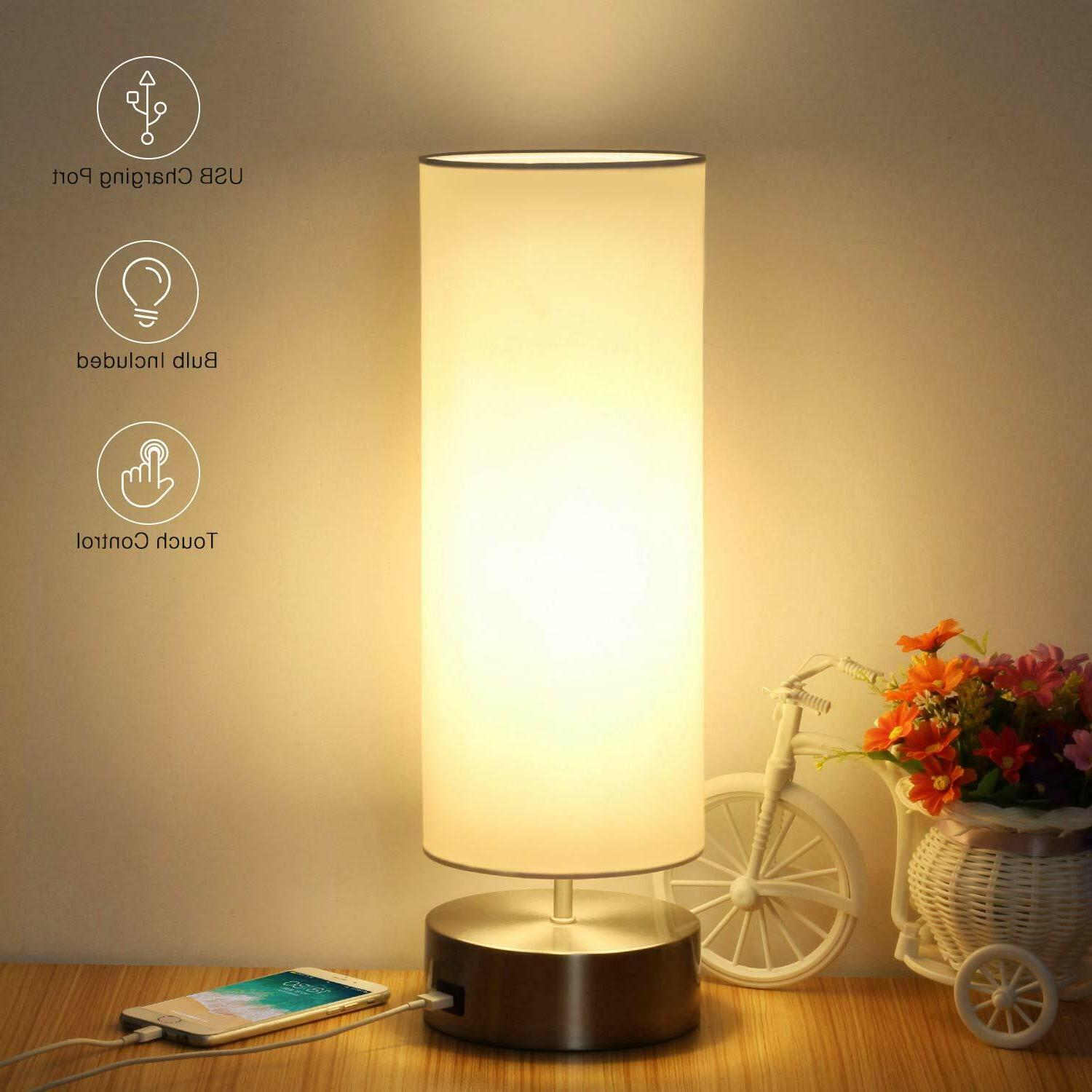 usb table lamp touch control bedside nightstand