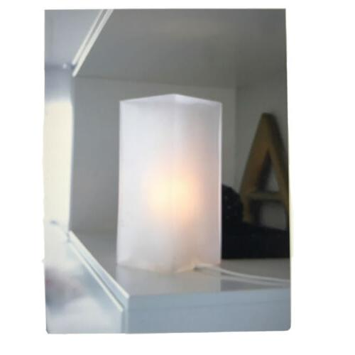 grono accent lamp frosted glass white includes