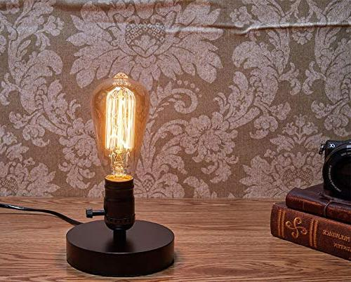 Vintage Table Lamp Base Licperron E27 Vintage plug Switch Bedside Lamp for Home Decor