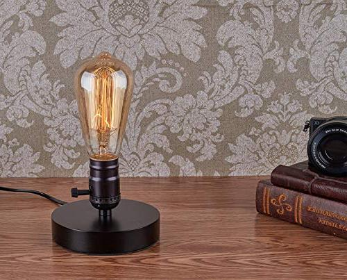 Vintage Lamp Licperron Vintage Desk Lamp with Switch Bedside for